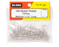 """Image 2 for DuBro 1-1/4"""" Nickel Plated T-Pins (100)"""