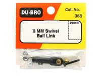 Image 2 for DuBro 2mm Swivel Ball Link (Black)