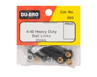 DuBro 4-40 Heavy Duty Ball Link (Black) (2)
