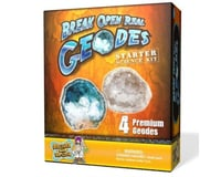 Discover with Dr. Cool Geode Starter Rock Science Kit – Crack Open 4 Amazing Rocks and Find Crystals!