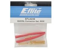 Image 2 for E-flite 4mm Gold Bullet Connector Set w/Heatshrink (3 Male/3 Female)