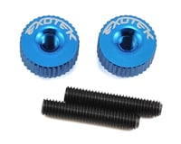 Exotek M3 Twist Nut (Medium Blue) (Kyosho Lazer ZX-6.6)