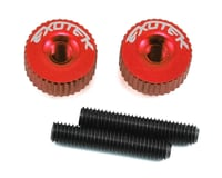 Exotek M3 Twist Nut (Red) (Kyosho Lazer ZX-6.6)