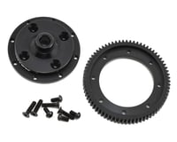 Exotek D413 Machined Spur Gear & Mounting Plate Set (72T) (HB Racing D418)