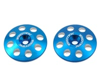 Exotek 22mm 1/8 XL Aluminum Wing Buttons (2) (Blue) (Kyosho Inferno MP9e Evo)