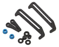 Exotek Carbon Fiber B6.1/B6.1D LiPo Tabs & Cups Set (Battery Brace) (Team Associated RC10 SC6.1)