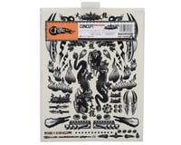 """Image 2 for Firebrand RC Concept Dragon Decal (Black) (8.5x11"""")"""