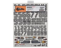 """Image 2 for Firebrand RC Numbers Decal Sheet (White) (8.5x11"""")"""