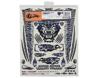 """Image 2 for Firebrand RC Concept Tiger Decal Sheet (Blue) (8.5x11"""")"""