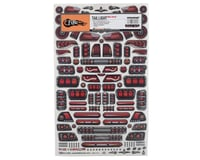 "Image 2 for Firebrand RC Tail Lights Multi-Fit Decal Sheet (8.5x14"")"
