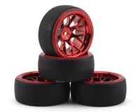 Firebrand RC Hypernova D29 Pre-Mounted Slick Drift Tires (4) (Red Chrome)
