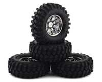 "Firebrand RC Hypernova XCT9 Pre-Mounted 2.0"" Crawler Tires (4) (Smoke Chrome)"