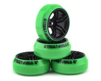 Firebrand RC Icestar XD9 0° Pre-Mounted Slick Drift Tires (4) (Black)
