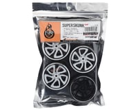 Image 3 for Firebrand RC Superskunk D2 Pre-Mounted Slick Drift Tires (4) (White/Black)