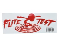 "Flite Test Mini Vector 10.5"" Die Cut Gremlin Logo Vinyl Decal (Red)"