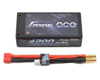 Gens Ace 2s Shorty LiPo Battery Pack 60C w/4mm Bullet (7.4V/4200mAh)