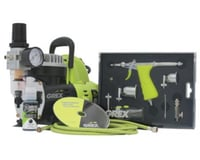 Grex Airbrush Grex GCK02 Airbrush Combo Kit with Tritium.TS3 Airbrush, AC1810-A Compressor, Accessories and DVD
