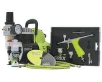 Grex Airbrush Grex GCK03 Airbrush Combo Kit with Tritium.TG3 Airbrush, AC1810-A Compressor, Accessories and DVD