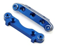 Helion Rock Rider XB Aluminum Front Suspension Holders (Blue) (2)