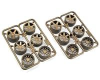 HPI Micro RS4 Wheel Set (Bronze) (6 Pairs) (Mesh, 5-Spoke, 6-Spoke)