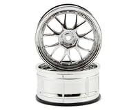 HPI 12mm Hex LP29 LM-R Wheels (2) (3mm Offset) (Chrome)