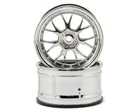 HPI 12mm Hex LP32 LM-R Wheels (2) (6mm Offset) (Chrome)