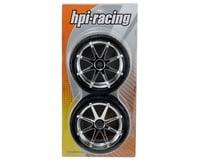 Image 2 for HPI Pre-Mounted Phaltline Tire w/Blast Wheel (2) (Chrome)