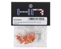 Image 2 for Hot Racing 1/10 Aluminum EZ Pulls w/Body Clips (Orange) (4)