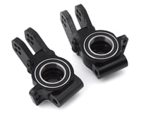 Hot Racing Arrma Limitless 6S Aluminum Rear Hubs w/Heavy Duty Bearings (Black) (2)
