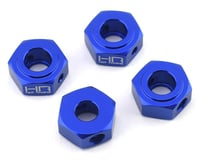 Hot Racing Losi Baja Rey/Rock Rey Aluminum Hex Adapter Set (Blue) (4)