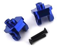 Hot Racing Losi Baja Rey/Rock Rey Aluminum Rear Upper Link Mount Set (Blue)