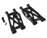 Hot Racing Super Rock Rey Aluminum Lower Front Suspension Arm Set (Black) (2)