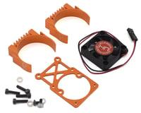 Hot Racing Traxxas Clip-On Two-Piece Motor Heat Sink w/Fan (Orange)