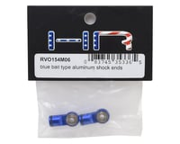 Image 2 for Hot Racing Traxxas Revo Ball Type Aluminum Shock Ends (Blue)