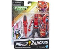 "Hasbro Power Rangers Beast Morphers Red Ranger 6"" Action Figure Toy"