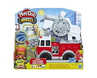 Hasbro Play-Doh Wheels Firetruck Toy with 5 Non-Toxic Colors