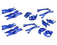 Team Integy Traxxas X-Maxx Aluminum Suspension Conversion Kit (Blue)