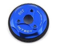 Team Integy Stampede/Rustler/Slash 86T Metal Spur Gear (Blue)