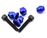 JConcepts Aluminum Serrated Shock Bottom Pivot Ball Set (Blue) | alsopurchased