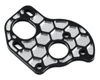 "JConcepts B6.1/B6.1D Aluminum ""3 Gear"" Layback Honeycomb Motor Plate (Black) (Team Associated RC10 SC6.2)"
