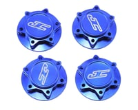 JConcepts Fin 17mm 1/8th Serrated Light Weight Wheel Nut (Blue) (4) (Losi 8IGHT-T E 3.0)