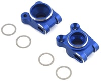 JConcepts B74 Aluminum Rear Hub Carriers (Blue) (Team Associated RC10 B74)