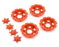"""JConcepts """"Tracker"""" Monster Truck Wheel Mock Beadlock Rings (Orange) (4)"""