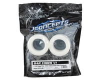 """Image 2 for JConcepts Bar Codes 2.2"""" Rear Buggy Tires (2) (Silver)"""