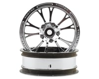 "JConcepts Tactic Street Eliminator 2.2"" Front Drag Racing Wheels (2) (Chrome)"