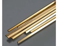 K&S Engineering Square Brass Tube 5/32', Carded