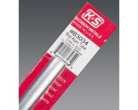 """K&S Engineering Round Aluminum Tube .035 Wall 7/16"""", Carded"""
