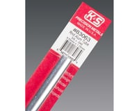 """K&S Engineering Round Aluminum Tube .049 Wall, 3/8"""", Carded"""