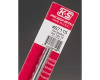"""K&S Engineering Round Stainless Steel Tube 1/4"""", Carded"""