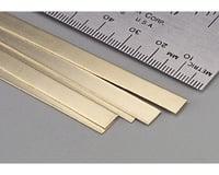 "K&S Engineering Brass Strips,36"",.016 x 1/4 (5)"